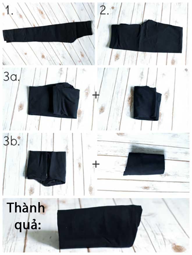 7 mẹo gấp quần áo gọn gàng